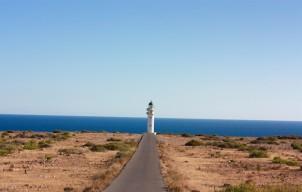 Es Cap de Barbaria Lighthouse, einde van de wereld